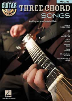 Guitar Play-Along Volume 83 Three Chord Songs PDF